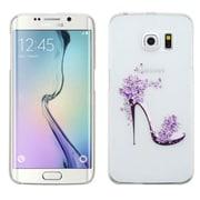 Insten High-heeled Shoes Hard Case For Samsung Galaxy S6 Edge - White/Purple