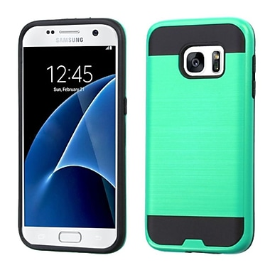 Insten Hard Dual Layer Silicone Cover Case For Samsung Galaxy S7 - Green/Black