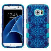 Insten Tuff Damask Hard Hybrid Silicone Cover Case For Samsung Galaxy S7 - Blue
