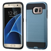 Insten Hard Hybrid Rubber Silicone Case For Samsung Galaxy S7 Edge, Blue/Black (2211314)