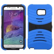 Insten Wave Symbiosis Silicone Hybrid Rubber Hard Cover Case with Stand For Samsung Galaxy Note 5 - Blue/Black
