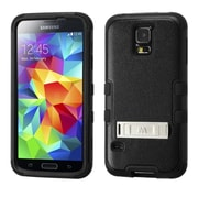 Insten Natural Black/Black TUFF Hybrid Hard Shockproof Phone Case Cover with Stand For Samsung Galaxy S V