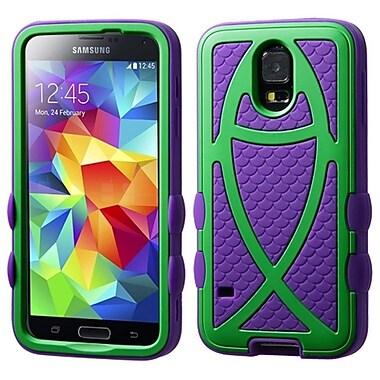 Insten Green/Dark Purple Colorful Fish Hybrid Rugged Hard Shockproof Case For Samsung Galaxy SV S5