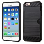 Insten Hard Hybrid TPU Case (with Card Wallet) For Apple iPhone 6 / 6s - Black