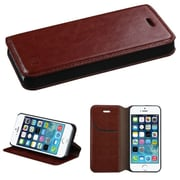 Insten Brown MyJacket Wallet Case with Tray 562 For APPLE iPhone SE 5S 5