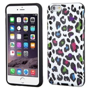 "Insten Leopard Hard Hybrid Glitter Silicone Cover Case For Apple iPhone 6 Plus 5.5"" - Colorful/Black"
