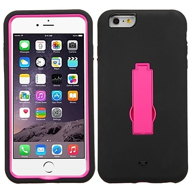 Insten Hot Pink/Black Hybrid Hard Shockproof Symbiosis Stand Cover Case For iPhone 6S Plus / 6 Plus 5.5