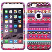 Insten Hard Dual Layer Rubber Coated Silicone Case For Apple iPhone 6 Plus - Colorful
