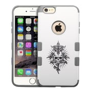 Insten Furious Skull/Iron Gray TUFF Merge Hybrid Hard Shockproof Silicone Case Cover For iPhone 6S Plus / 6 Plus 5.5""