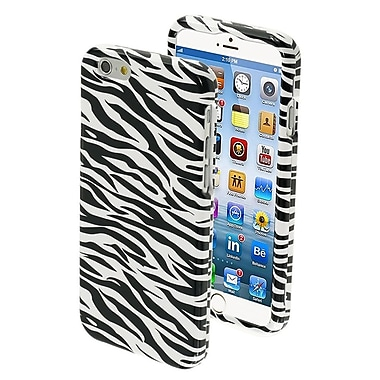 Insten Zebra Skin Snap-On Hard Black White Design Cover Case Design For iPhone 6S 6 4.7