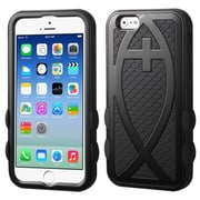 "Insten Hard Dual Layer Rubber Coated Silicone Case For iPhone 6S 6 4.7"" - Black"