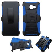 Insten Hard Dual Layer Plastic Silicone Case w/stand/Holster For Samsung Galaxy A3 (2016) - Black/Blue