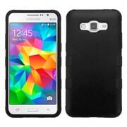 Insten Tuff Hard Dual Layer Rubberized Silicone Case For Samsung Galaxy Grand Prime - Black