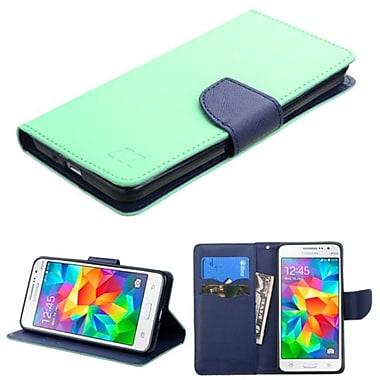 Insten ? Étui en cuir à rabat-support avec porte-carte pour Samsung Galaxy Grand Prime, sarcelle/bleu (2177313)