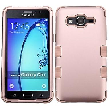 Insten Tuff Hard Hybrid Rubber Coated Silicone Case For Samsung Galaxy On5 - Rose Gold