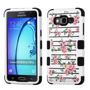 Insten Tuff Fresh Roses Hybrid 3-Layer Silicon Hard Case Cover For Samsung Galaxy On5 - Pink/White