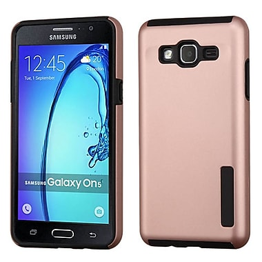 Insten Slim Hybrid Dual Layer Soft Hard Cover Case For Samsung Galaxy On5 - Rose Gold/Black