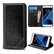 Insten Flip Leather Wallet Case with card slot For Samsung Galaxy S7 - Black