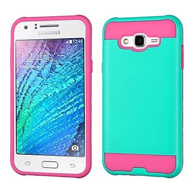 Insten Hard Hybrid TPU Case For Samsung Galaxy J7 (2015) - Teal/Pink