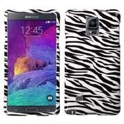 Insten Zebra Hard Rubber Case For Samsung Galaxy Note 4 - Black/White