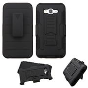 Insten Hard Hybrid Plastic Silicone Case with Holster For Samsung Galaxy J7 (2015) - Black