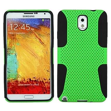 Insten ? Étui hybride robuste et résistant aux chocs à texture en treillis pour Samsung Galaxy Note 3 III N9000, vert (1552220)
