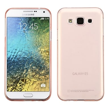 Insten Gel TPU Rubber Skin Case For Samsung Galaxy E5 - Rose Gold