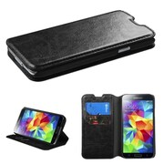 Insten Black MyJacket Case Cover Wallet with Tray 561 with Package For SAMSUNG Galaxy S5