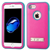 Insten Ultra Slim Hybrid 3-Layer Shockproof Kickstand Case For iPhone 7 - Pink/Teal