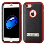 Insten Ultra Slim Hybrid 3-Layer Shockproof Kickstand Case For Apple iPhone 7 - Black/Red