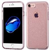 Insten Transparent Rose Gold Bling Glitter Flexible TPU Rubber Skin Case For Apple iPhone 7