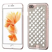 Insten Sparkly Diamante Hard Cover Case For Apple iPhone 7 Plus - Silver (with 3D Rhinestone Diamond)