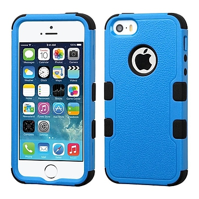 Insten Hard Dual Layer Rubber Silicone Case For iPhone SE / 5 / 5S - Blue/Black