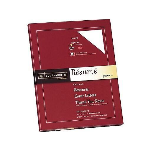 SouthworthR Exceptional Resume Paper 24 Lb 8 1 2 X 11 White