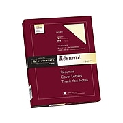 "Southworth 8.5"" x 11"" Resume Paper, 24 lbs., Ivory Wove, 100 Sheets/Box (R14ICF)"