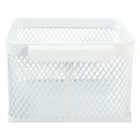 Staples Wire Mesh Accessory Holder White 29484 Deals