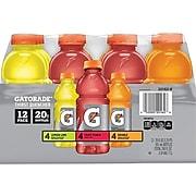 Gatorade Thirst Quencher Assorted Flavor Liquid Sports Drink, 20 Fl. oz, 12/Carton (QUA20162)