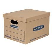 "Bankers Box Smoothmove 15"" x 12"" x 10"" Moving Boxes, Kraft, 5/Bundle (7714212)"