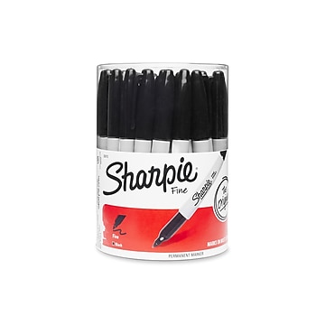 Sharpie Permanent Markers, Fine Point, Black, 36/Pack (35010)