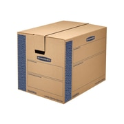 "24"" x 18"" x 18"" Moving Boxes, ECT 32, Blue/Kraft, 6/Bundle (0062901)"