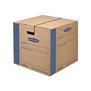 "Bankers Box Smoothmove 18"" x 18"" x 16"" Moving Boxes, Blue/Kraft, 8/Bundle (0062801)"