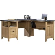 "Sauder Select 59""W L-Shaped Desk, Dover Oak (412320)"