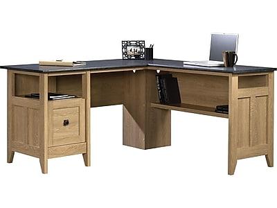 sauder august hill l desk oak staples rh staples com staples gillespie l-shaped desk assembly instructions staples monarch l shaped desk
