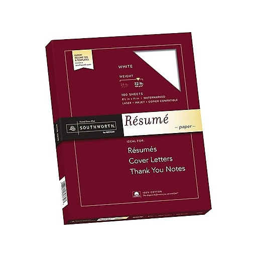 Southworth 85 X 11 Resume Paper 32 Lbs Wove 100 Pack RD18CF