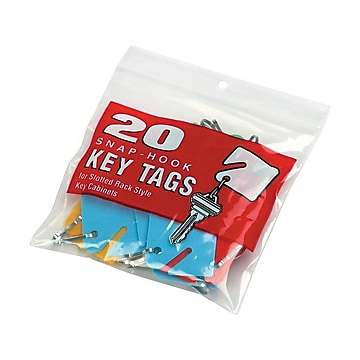 MMF Industries Slotted Rack Key Tags, Assorted Colors, 20/Pack (2013004W47)