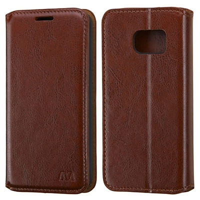 Insten Leather Wallet Stand Case with Card Slot For Samsung Galaxy S7 - Brown