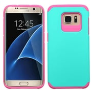 Insten Hard Dual Layer Hybrid Case For Samsung Galaxy S7 Edge - Teal/Hot Pink