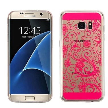 Insten Four-Leaf Clover TPU Case For Samsung Galaxy S7 Edge, Hot Pink (2229188)