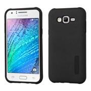 Insten Hard Hybrid Rubber Silicone Case For Samsung Galaxy J7 (2015) - Black