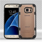 Insten Hard TPU Rubber Case Cover For Samsung Galaxy S7 - Clear/Black